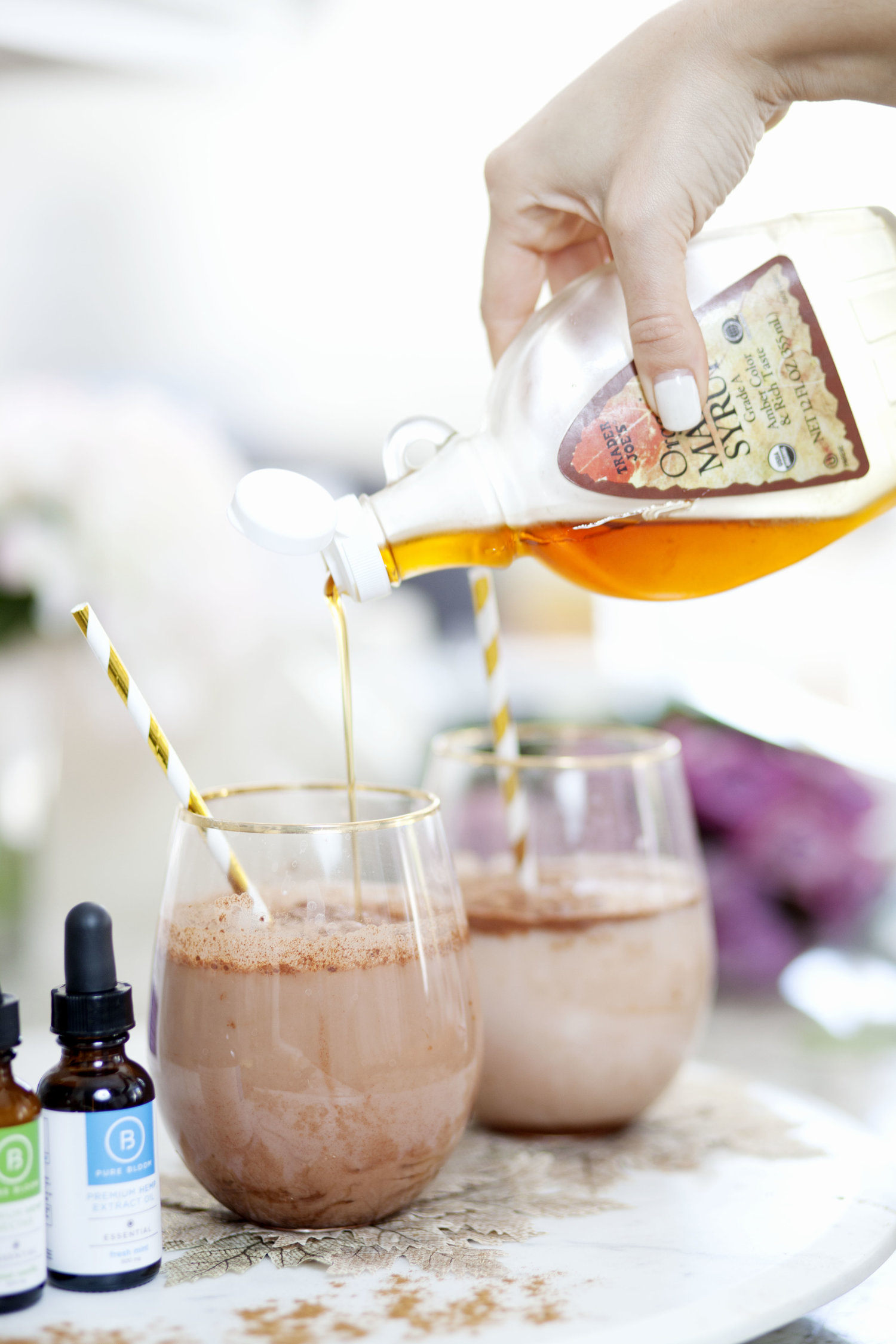 Sweet Vanilla Mint Cacao CBD Cocktail