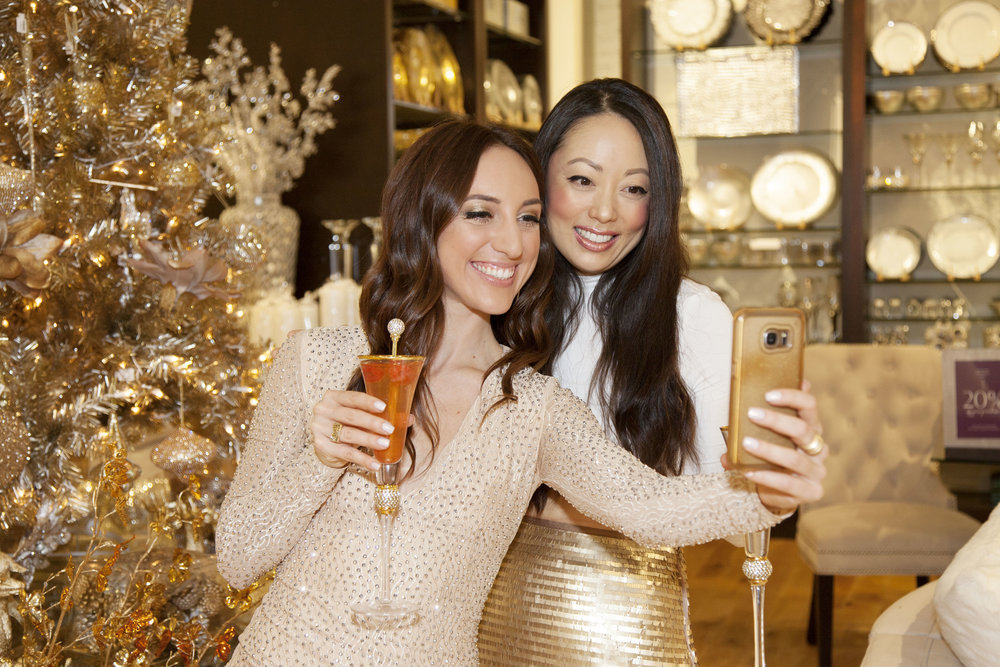 Brielle Galekovic and Anna Kim at Z Gallerie: A Holiday Zoiree