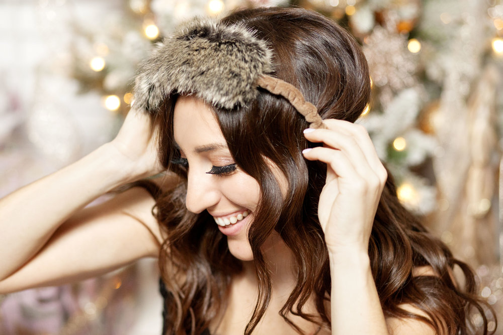 Stella Stone Faux Fur Sleep Mask - The Gilded Bellini Holiday Gift Guide