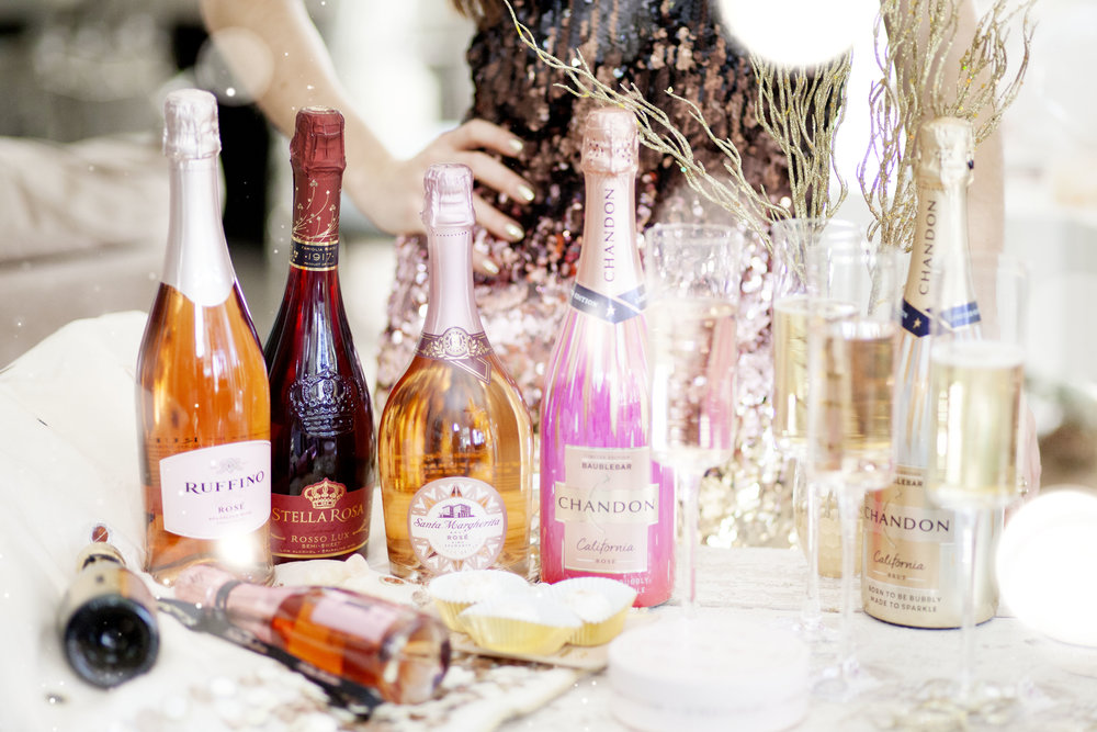 Champagne and Sparkling Rosé for New Years Brunch on The Gilded Bellini