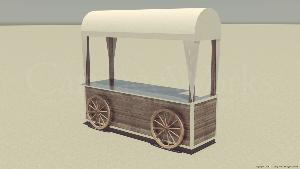 Covered Wagon Food Cart