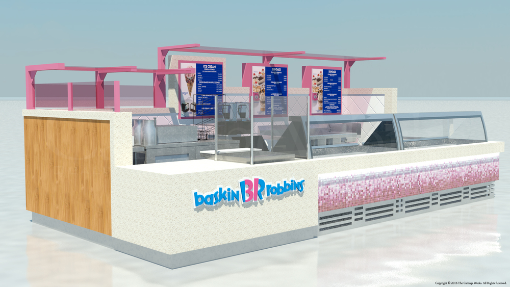 Indoor Ice Cream Kiosk