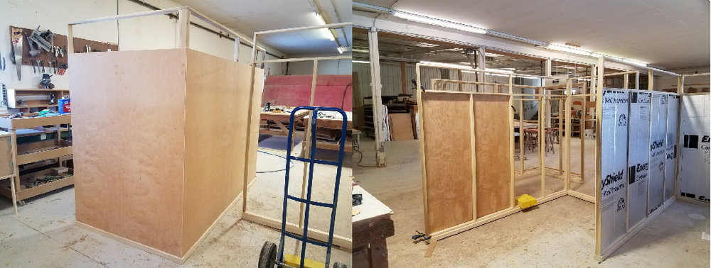 Partitions for sales office.