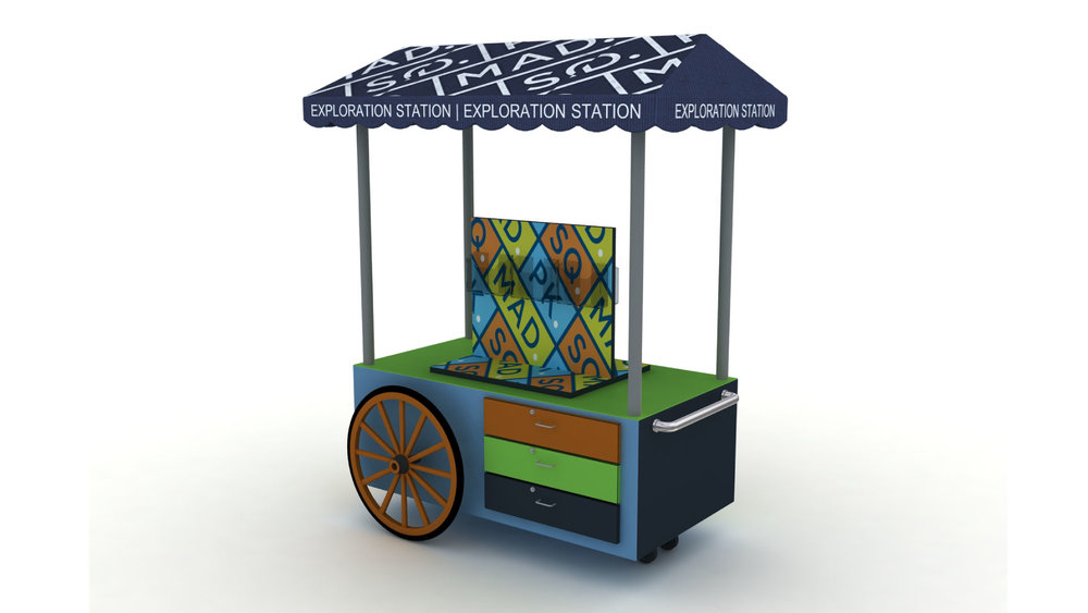 Retail Cart - Retail carts are a popular option if there are space constraints involved or for smaller displays. Since TCW specializes in custom-made products, we can work with any design concept or ideas brought to us from material selection, design, colors, and more.