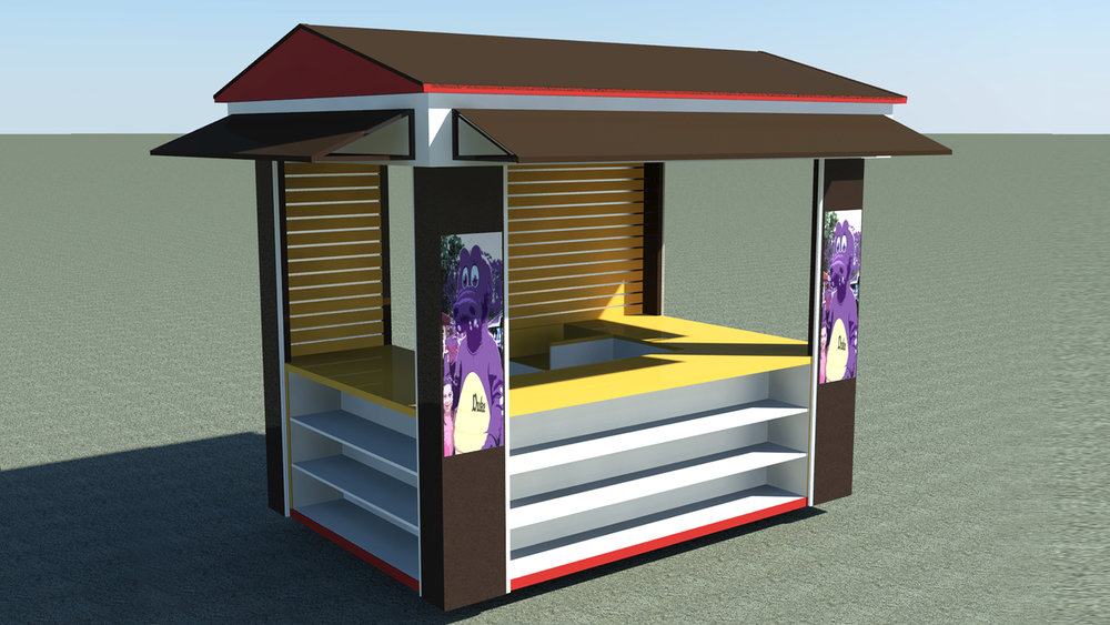 Retail Kiosk - A retail kiosk is a great option for customer service booth.