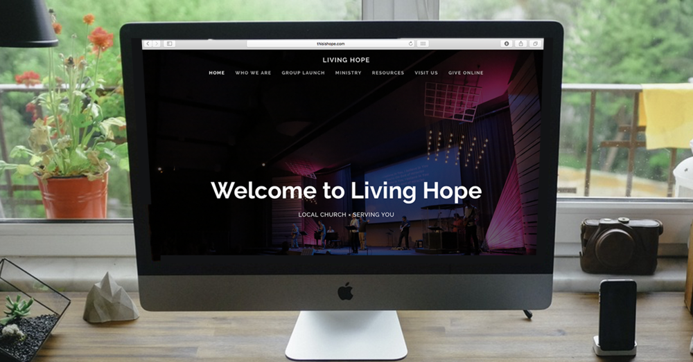prez marketing web design living hope fellowship