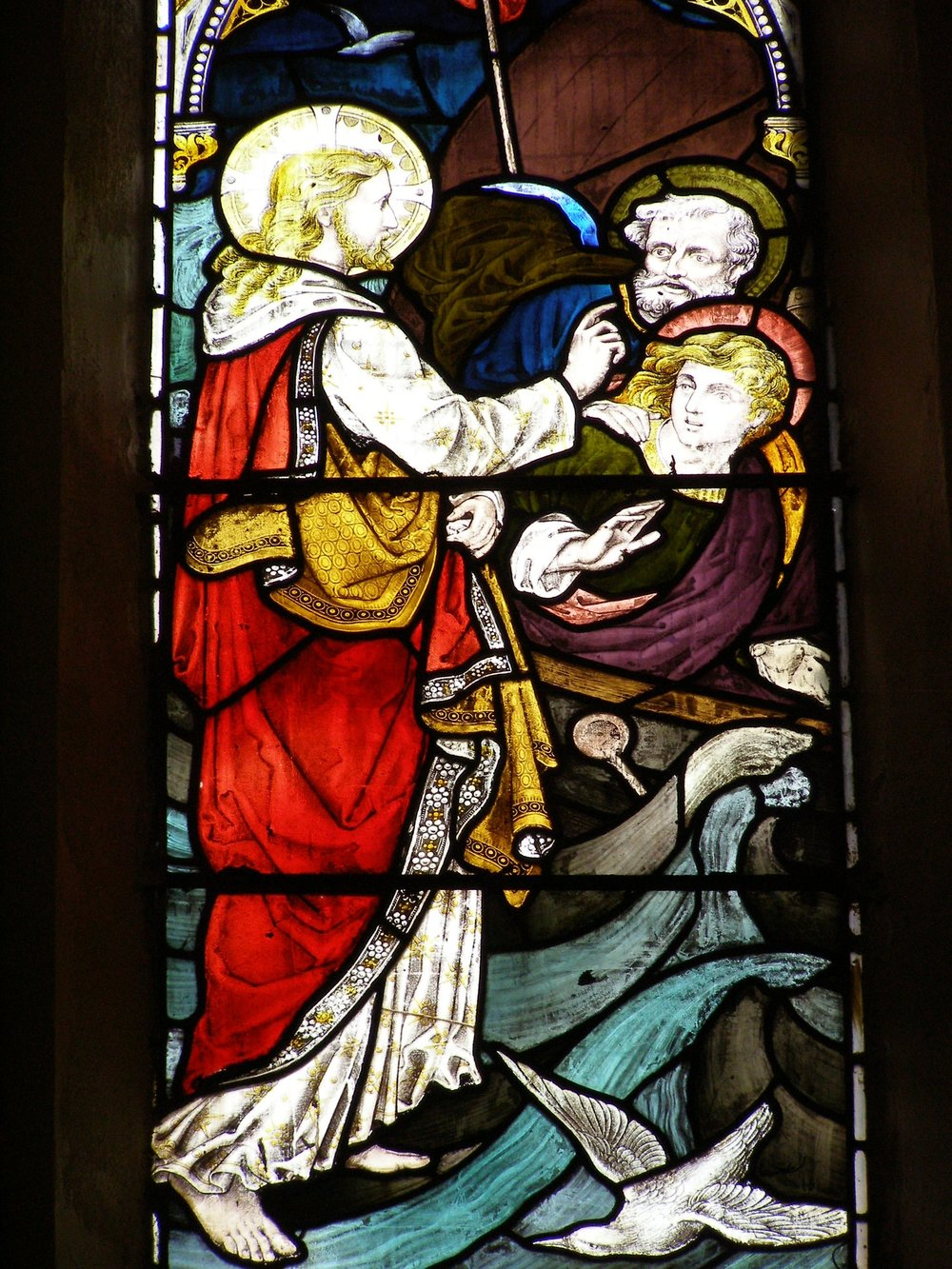 Symbolism and storytelling is present in each stained glass window