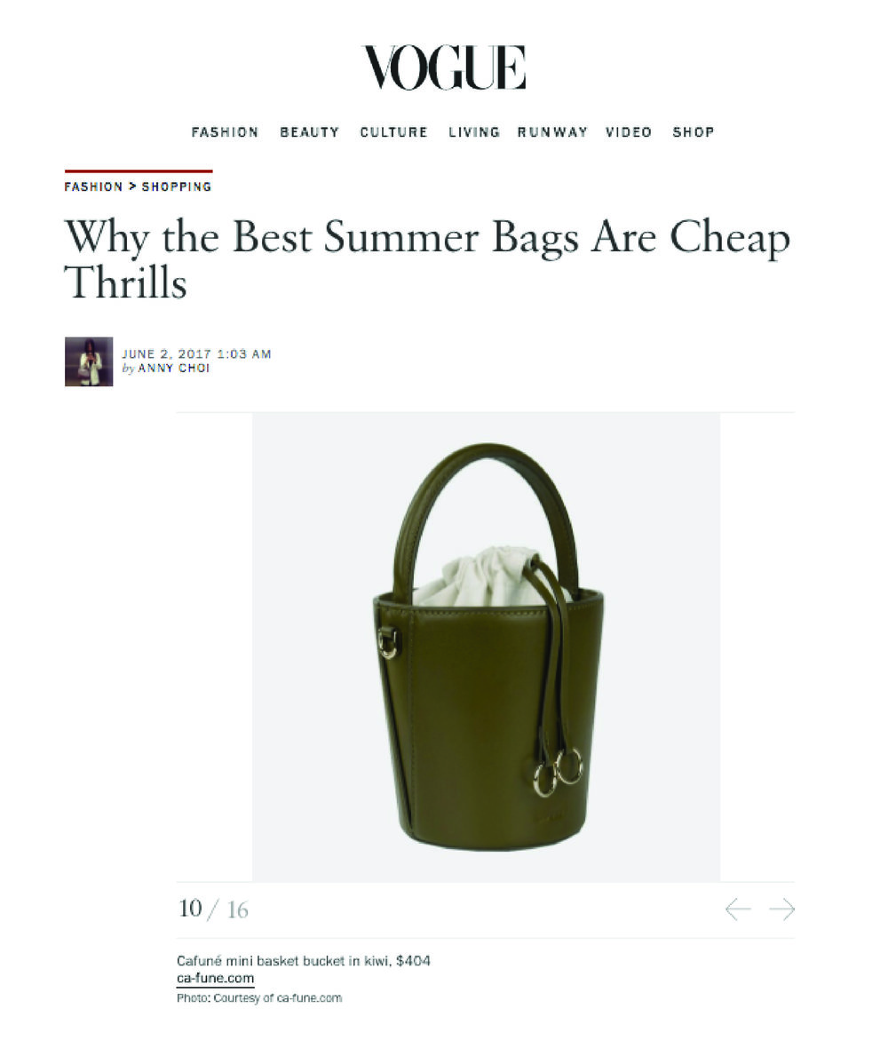 02-06-2017 VOGUE.COM BEST SUMMER BAG    Mini Bucket in Kiwi  is one of the best affordable summer bags!