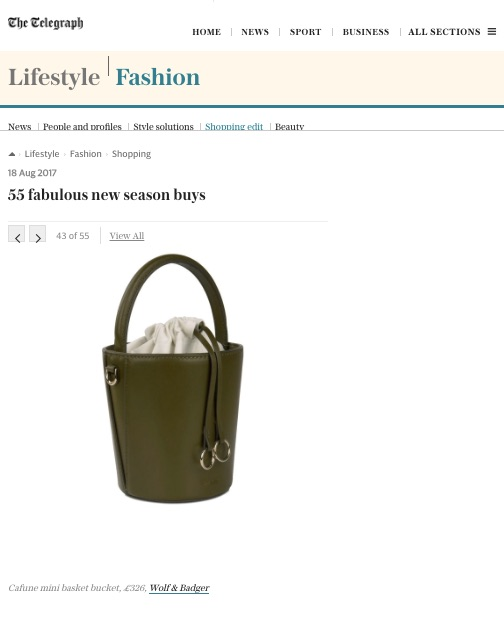 18-08-2017 55 FABULOUS NEW SEASON BUYS BY TELEGRAPH FASHION   Our Mini Basket Bucket in Kiwi as one of the 55 new season buys!