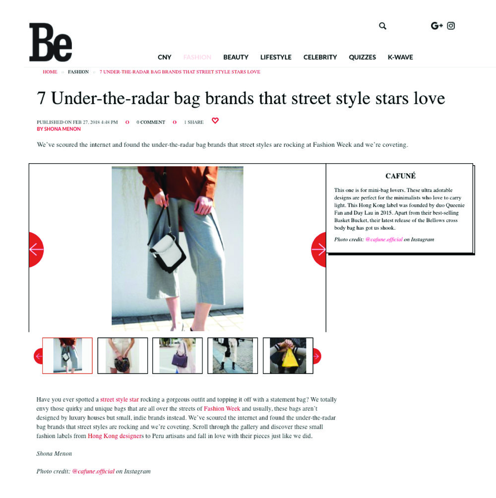 27-02-2018   7 Under-the-radar bag brands that street style stars love   Our Bellows Crossbody has got Be Asia editors talking - shop them  here