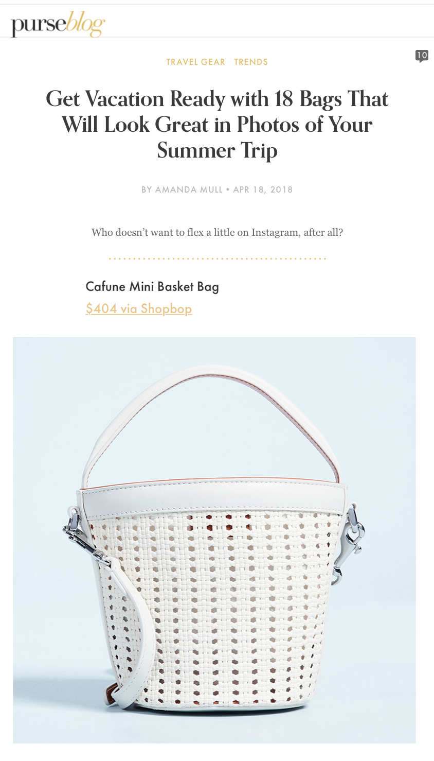 18-04-2018 Summer bag ready   Time to plan ahead and get vacation ready with our new  Pearl Woven Mini Bucket !