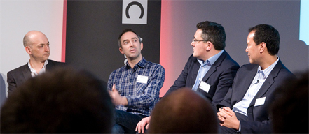 The panel at Product Tank's January meetup - Image by Richard Stowey