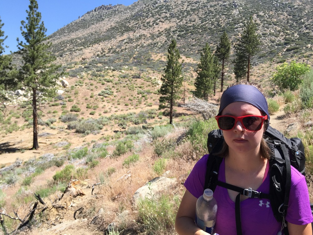 Hiking out of the Kern Valley from Kennedy Meadows. Looking forward to the Sierras. Look how enthusiastic Maddie is!