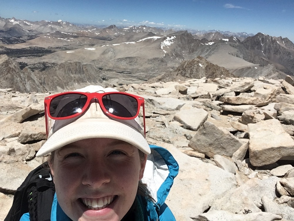 The requisite summit selfie. Mt. Whitney July 9th.