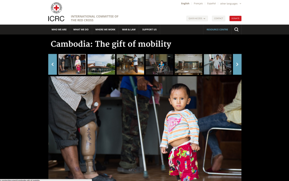 The gift of mobility project, International Committee of the Red Cross