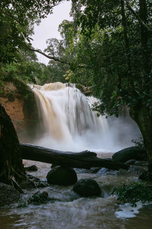 Rainy Season at Haew Suwat Waterfall, Khao Yai National Park, Thailand.