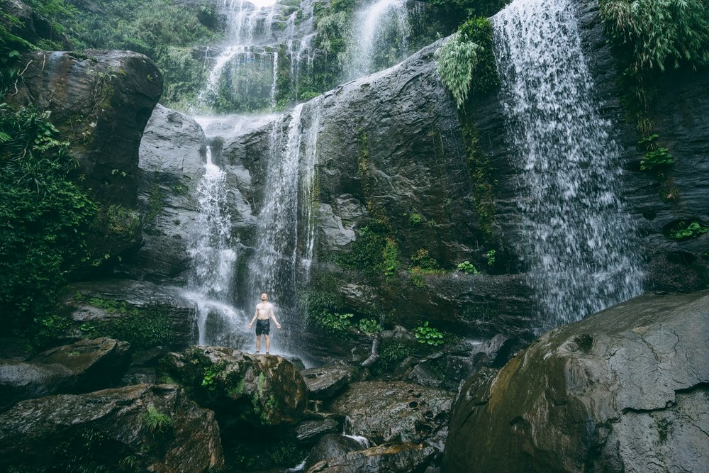 Getting Involved - Morning Waterfall Shower in Iriomote-jima, Japan