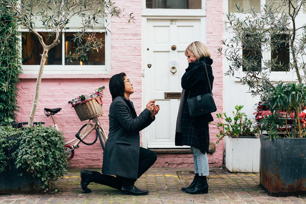 Secret Marriage Proposal, London