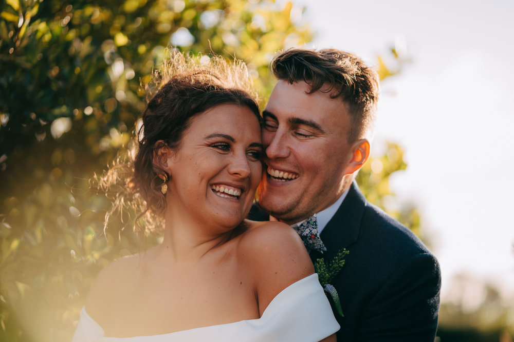 Couples Portrait during Canterbury Wedding, Kent
