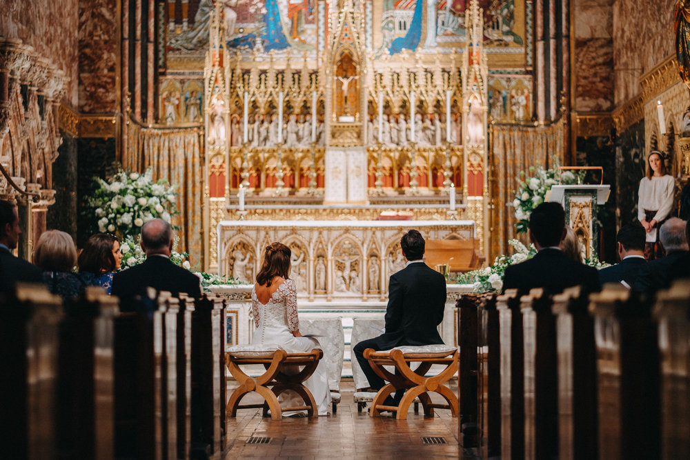 Farm Street Church Wedding, Mayfair