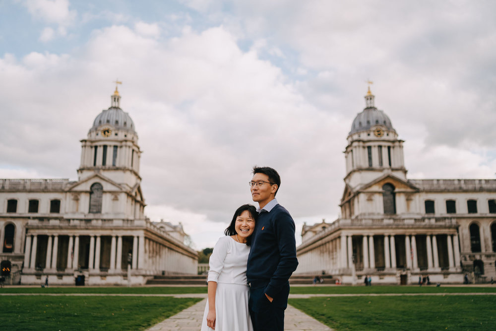 London Couples Portrait Photographer in Greenwich Royal Naval Dockyard