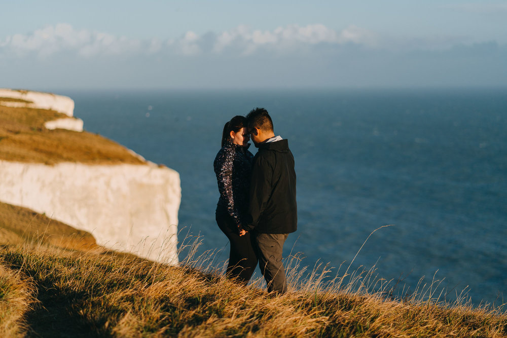White Cliffs of Dover Couples Portrait