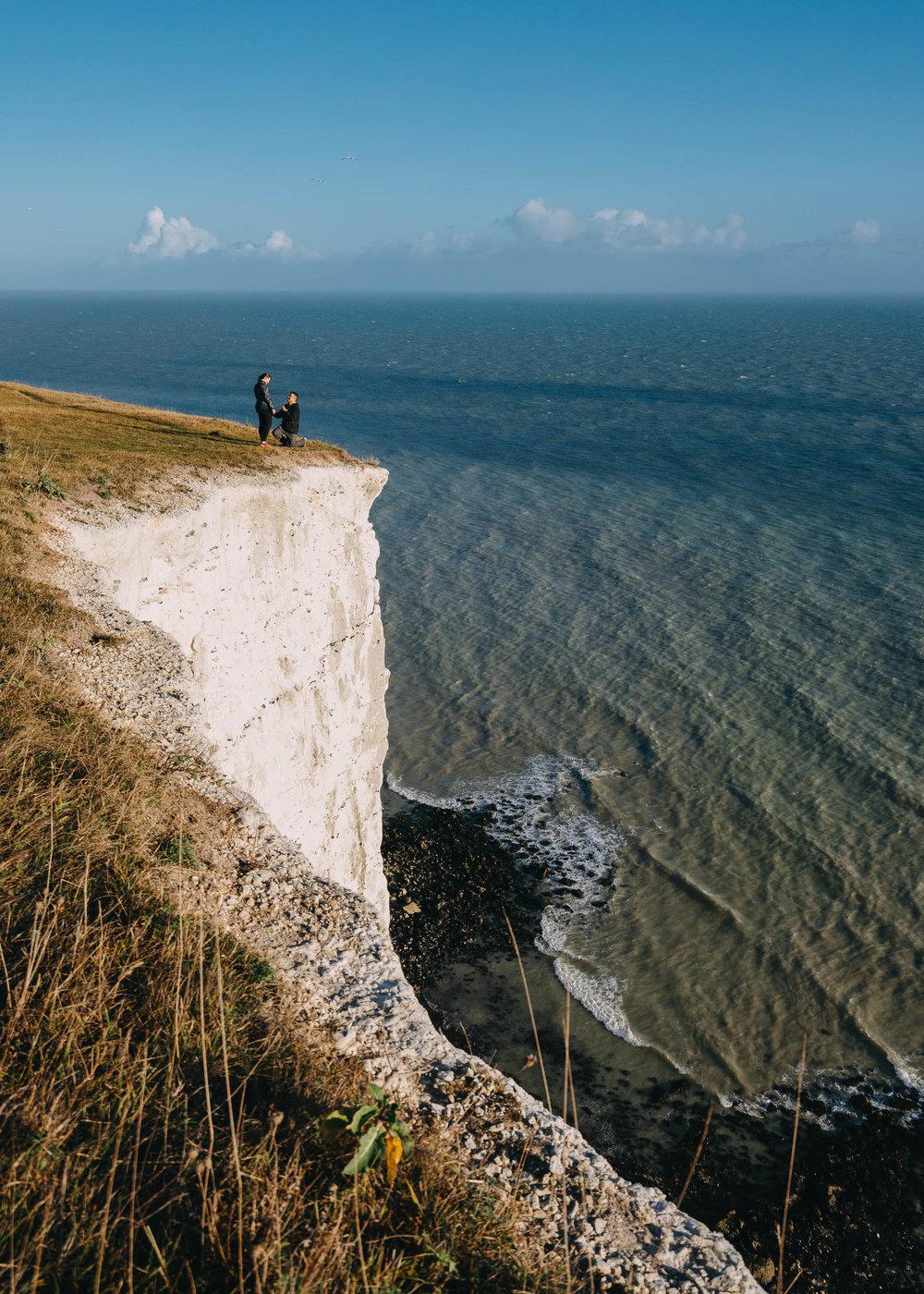 Surprise Proposal Photographer White Cliffs