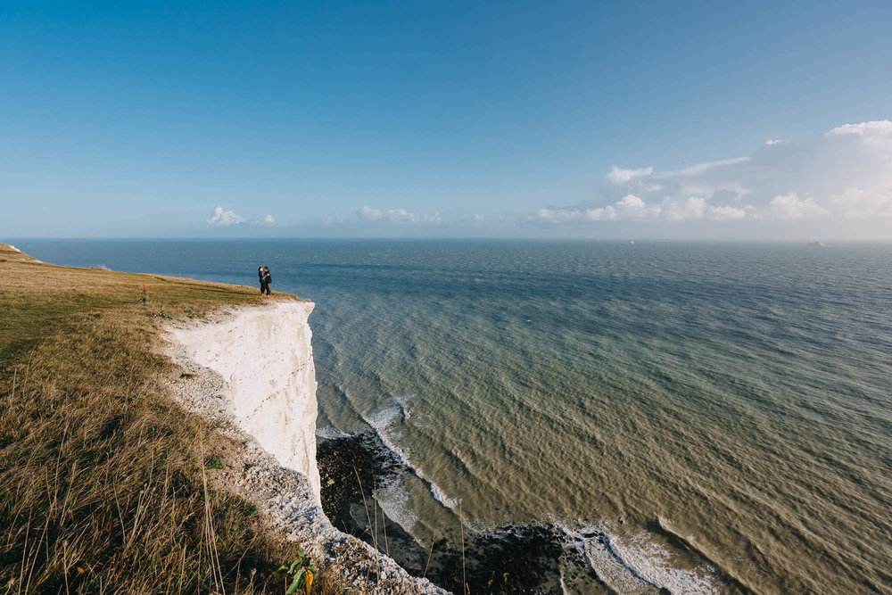 Surprise Proposal Photographer White Cliffs of Dover