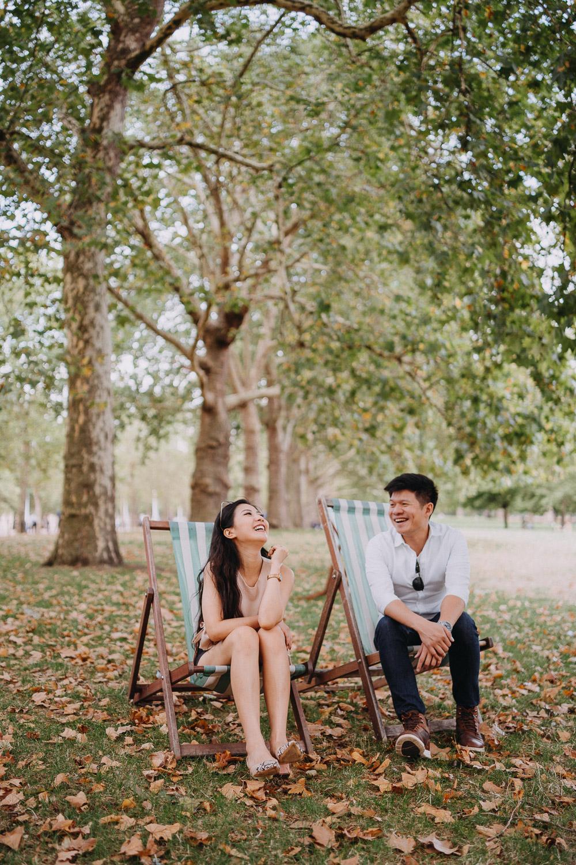 St. James's park couples portrait session