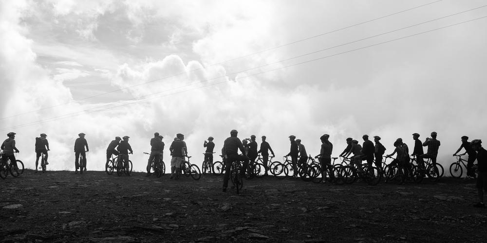 Bikers on the edge