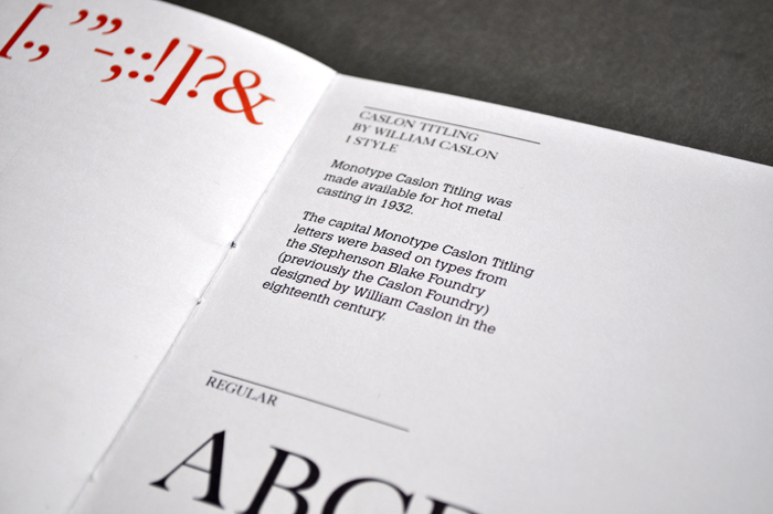 Monotype specimens — The Counter Press
