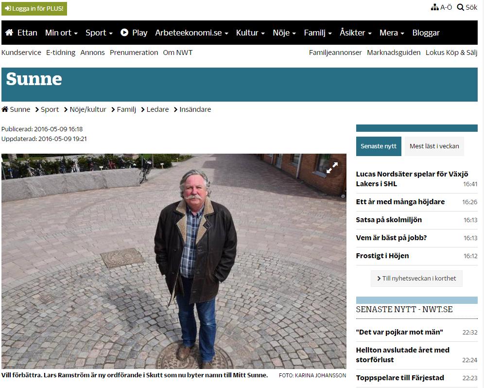 Lars Ramström ny ordförande i Mitt Sunne.