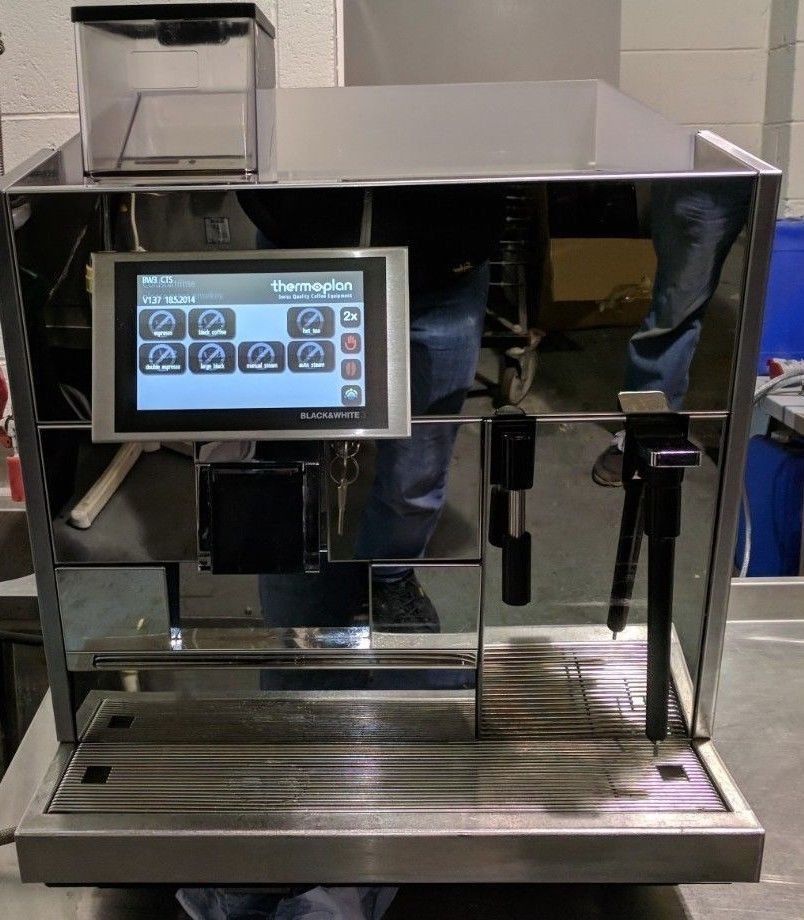 THERMOPLAN BLACK AND WHITE 3 CTS BARISTA DRIVEN AUTOMATIC WITH AUTOSTEAM REFURBISHED EXAMPLE
