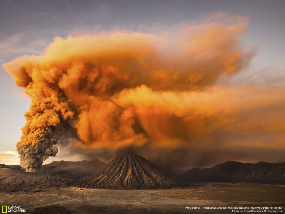 MT. Bromo •• Photo and Caption by Reynold Dewantara Mount Bromo volcano is a small, but active volcanic cinder cone on Java, Indonesia. Early 2016, I happened to be in Mt Bromo during the increase of seismic activity and triggered the alert status to the second highest.
