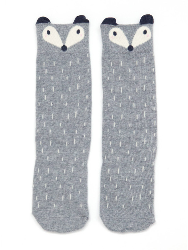 http://www.thegatheredstore.com/products/raccoon-knee-socks-gray