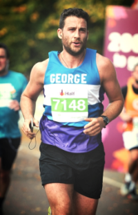 In action at the Royal Park's Half Marathon in 2015