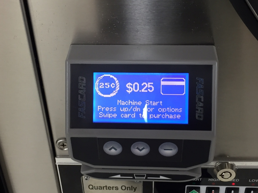 CARD READERS - WE ACCEPT VISA, MASTERCARD DIRECTLY AT THE MACHINE