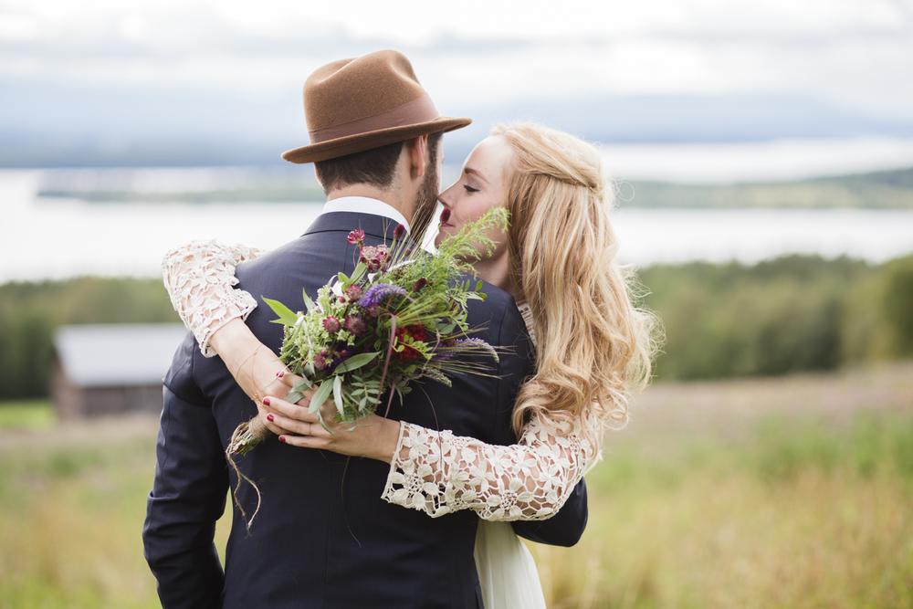 Bohemiskt höstbröllop med ladufest