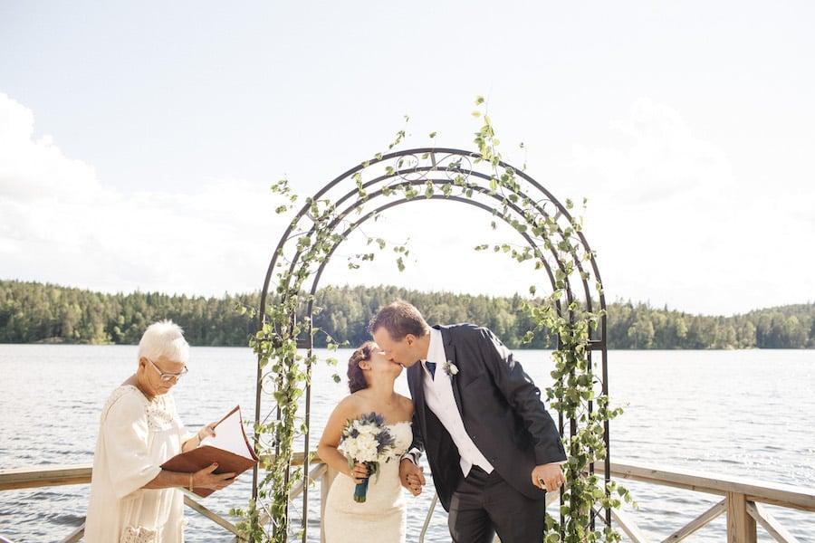 Bröllop i Stockholmsidyll: Talia och Olof