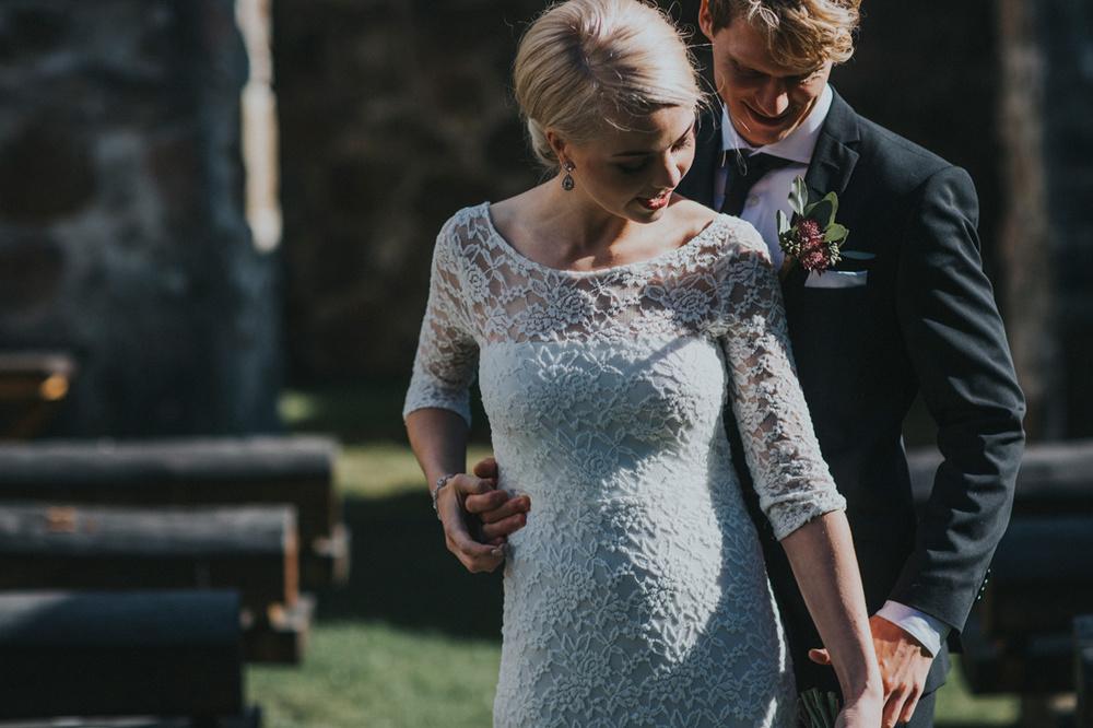 Stämingsfullt septemberbröllop: Johanna och Sam