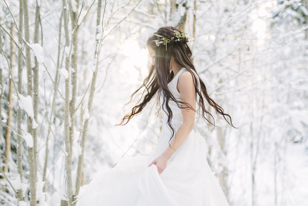 Stylad fotografering: Vinterbröllop
