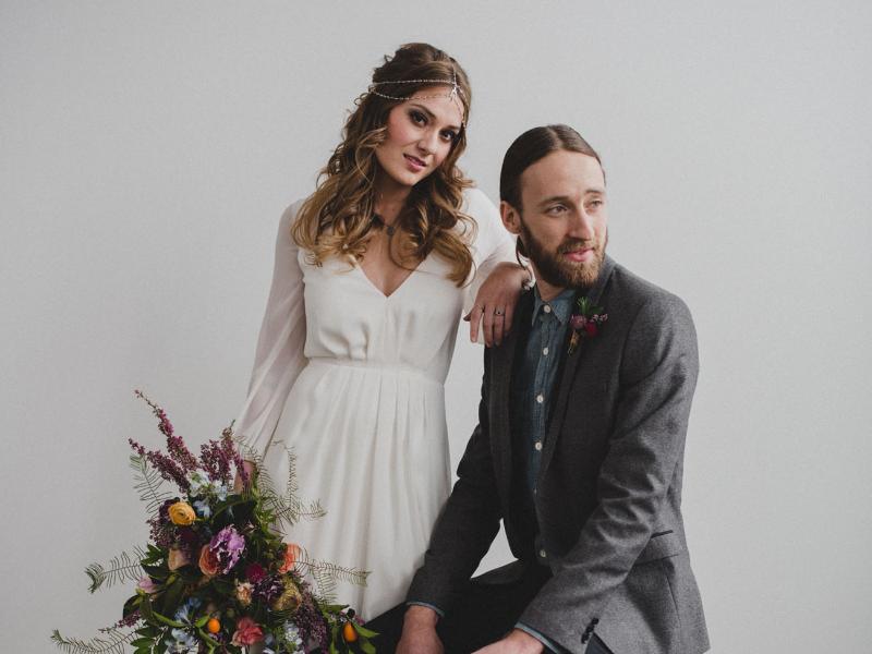 Bröllopsinspiration: Bohemisk och minimalistisk stil