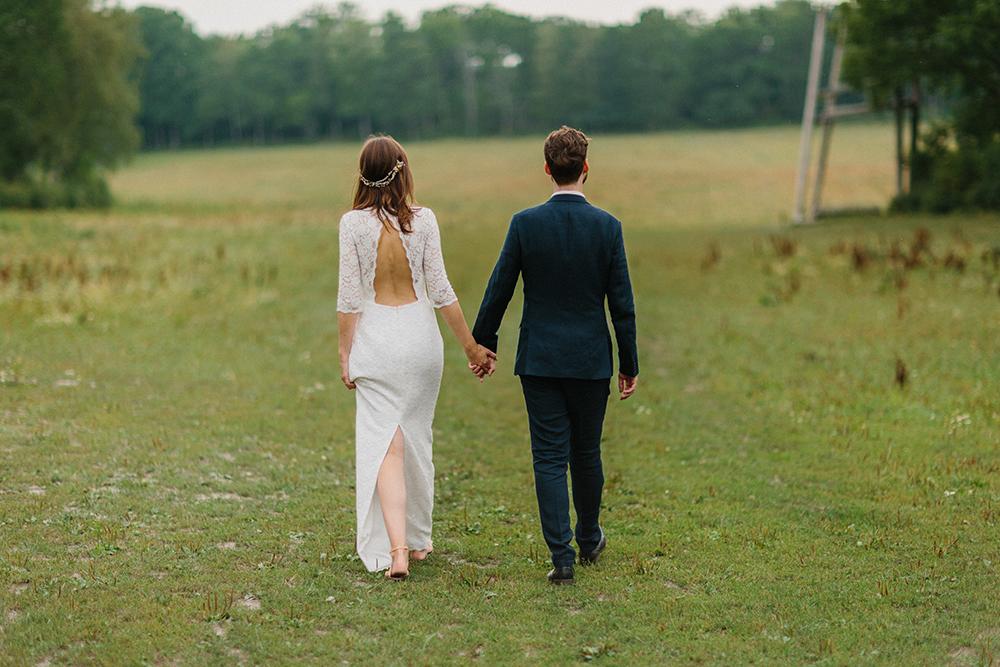 Rustikt och skogsnära bröllop