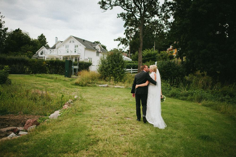 Bröllop med trädgårdsfest