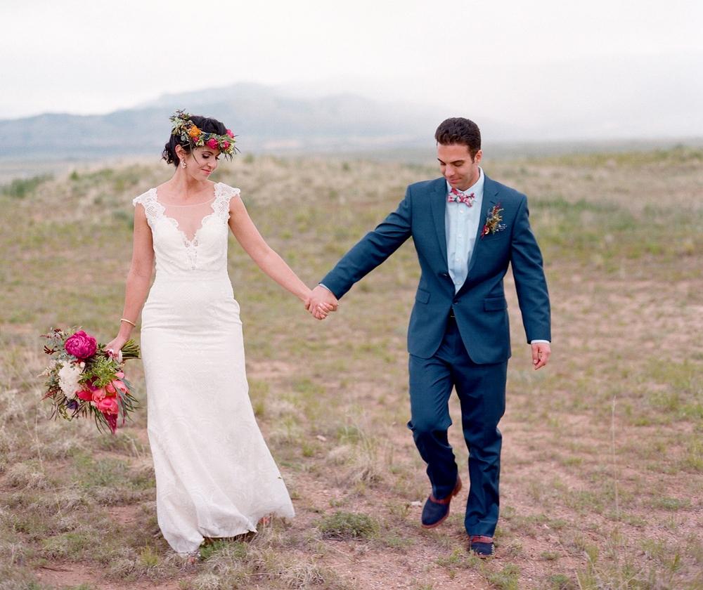 Färgstarkt bröllop