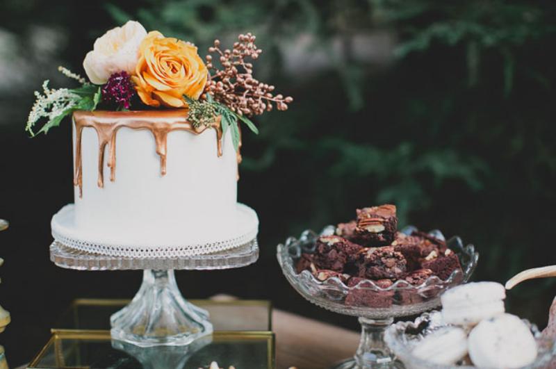 Inspiration för höstbröllop: Orange och lila färgtema