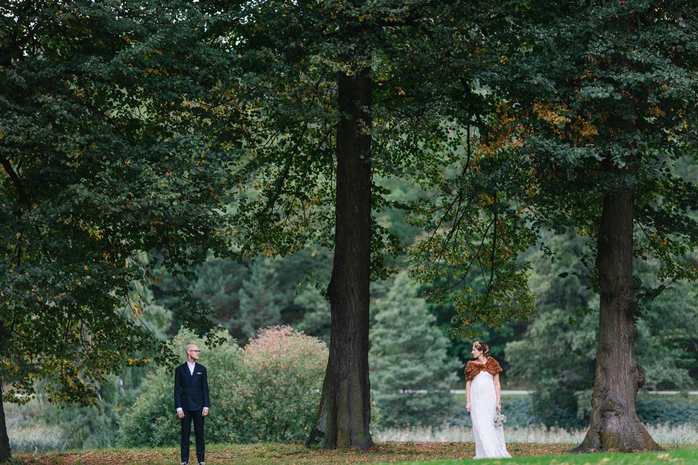 Bohemiskt höstbröllop i Hagaparken: Stephanie och Mikael