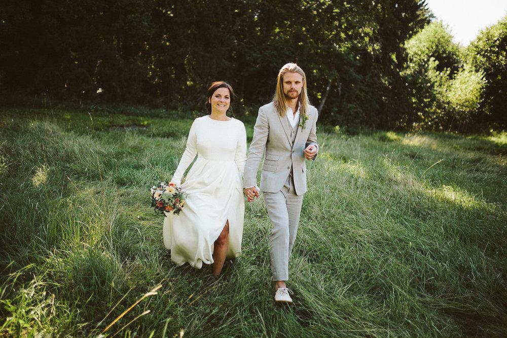 Bohemiskt bröllop på Storholmens koloni: Veronica och Martin