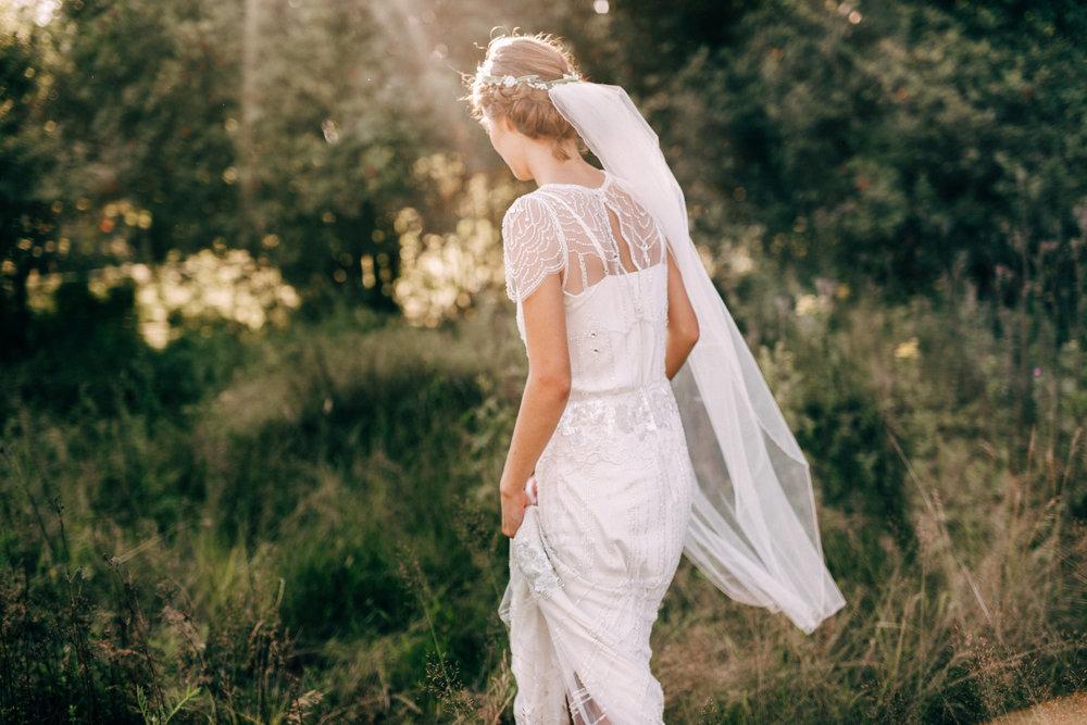 Stämningsfullt bohemiskt bröllop