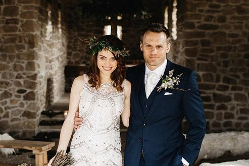 Intimt och rustikt bröllop